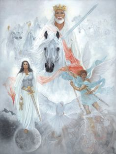 """Someone send me this card and will like to share it with you, the artist is Leslie Young Marks - """"Victory"""", a call to Apostolic Reformation. THANK YOU!"""