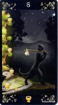 Eight of Cups - Black Cats Tarot