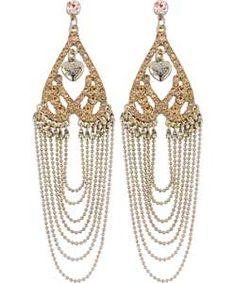 Gorgeous gold Lipsy cascade earrings <3 #BENEFIT4MW