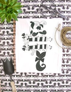 Organic Fairtrade t-shirt Black and White by RooftopCo on Etsy Black And White Illustration, Fair Trade, Organic, Cotton, T Shirt, Etsy, Outfits, Clothes, Women