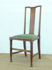12 Arts & Crafts Oak Dining Chairs by Morris & Co Material: Oak Condition: Restoration, seats reupholstered Origin: English Circa 1880