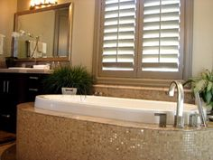 Master Bath Mosaic Tile on Tub Surround - contemporary - bathroom - salt lake city - by Denise Glenn Interior Design