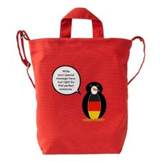 Talking German Penguin Flag