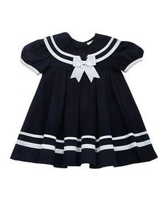 Take a look at this Navy & White Nautical Dress & Hat - Infant, Toddler & Girls on zulily today!