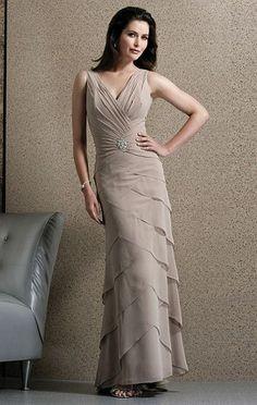 Jovani Chiffon Tiered Evening Dress 9914 image