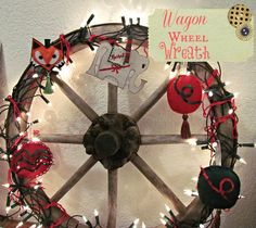Wagon wheel wreath :: via amphoriabello blog