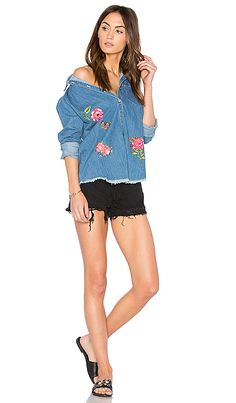 Shop for Lauren Moshi Sloane Button Up Denim Shirt in Classic Wash at REVOLVE. Free 2-3 day shipping and returns, 30 day price match guarantee.
