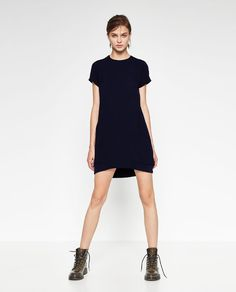 Image 1 of CONTRAST ZIP DRESS from Zara
