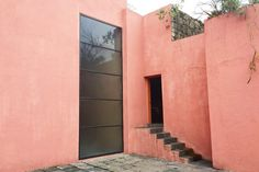 Revisiting Luis Barragán's Casa Pedregal — The Find House Landscape, Landscape Design, Red Architecture, Pyramid Building, Custom Consoles, Residency Programs, Cypress Trees, Live Coral, Gardens
