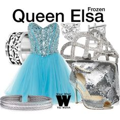 Inspired by Idina Menzel (voice) in 2013's Frozen & Georgina Haig in Once Upon a Time both as Queen Elsa.