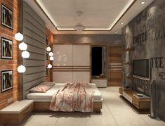 Wardrobe Design Bedroom, Bedroom Furniture Design, Modern Bedroom Design, Flat Interior Design, Interior Designing, Double Bed Designs, Indian Interiors, Apartment Balcony Decorating, Property Design