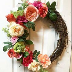 Roses Grapevine Wreath