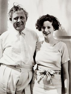 Charles Laughton and Elsa Lanchester, 1930s. A legendary marriage. She is so beautiful.