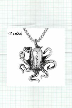 Octopus Pendant Necklace Stainless Steel