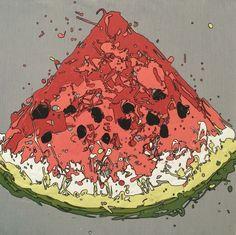 Watermelon, drip art, mch artwork Drip Art, Messy Art, Watermelon, Artwork, Color, Work Of Art, Auguste Rodin Artwork, Colour, Artworks