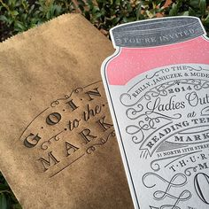 Custom Market Invitation by Two Paperdolls #letterpress #letterpressinvite