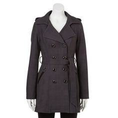 Sebby Hooded Double-Breasted Trench Coat - Women's
