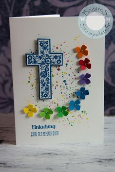 Brigittes Stempelstelle: Einladungen zur Erstkommunion #Kommunion #Konfirmation #Einladung #Stampin´ Up! #Basteln #Papier