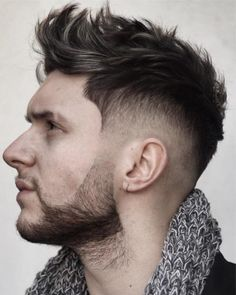 Mens Hairstyles + Cool Haircuts For Men Easy Messy Hairstyles, Faux Hawk Hairstyles, Cool Hairstyles For Men, Boy Hairstyles, Men's Haircuts, Latest Hairstyles, Hairstyle Ideas, Fohawk Haircut, Fade Haircut