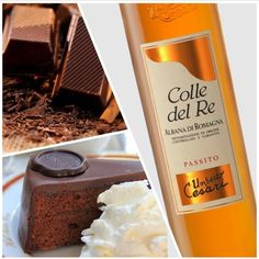 A gourmand pairing: a slide of #Sachertorte matched with our Colle del Re #Passito. #foodpairing #finefood #wine #winelovers