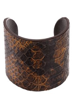 Michael Kors python embossed cuff