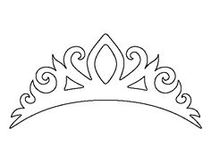 Tiara pattern. Use the printable outline for crafts, creating stencils, scrapbooking, and more. Free PDF template to download and print at http://patternuniverse.com/download/tiara-pattern/