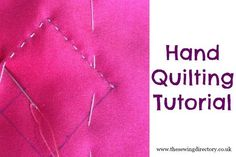 How to hand quilt with this tutorial