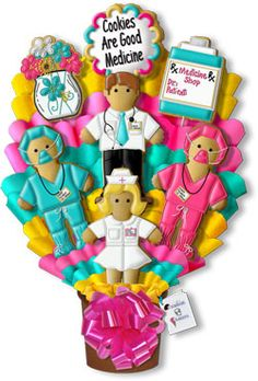 Decorated Cookies Gift | Cookies Are Good Medicine Hand Decorated Cookie Bouquet Gift ...