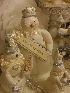 snowmen and glitter....