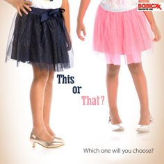 Which #skirt will you choose for your little doll? Explore our skirts collection for girls here. #Basicxx #BasicxxOnline #Riyadh #Jeddah #Dhahran #InspirationFulfilled #BasicxxGirls