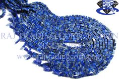 Lapis Lazuli Smooth Brick (Quality B) Shape: Brick Smooth Length: 36 cm Weight Approx: 17 to 19 Grms. Size Approx: 4x6 to 5x7 mm Price $2.80 Each Strand