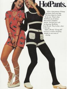 1970's advert for hotpants #advert