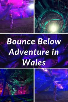 Bounce Below Adventure in Wales | Have you ever wanted to get back to your childhood roots of jumping around, crawling on the ground, and falling down without a care in the world? There's a place in Wales that lets you do exactly that! Bounce Below is what we like to think of as the ultimate jungle gym for adults. | The Planet D Adventure Travel Blog