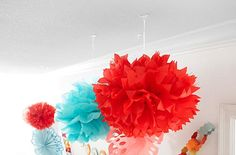 Go vertical! Don't be afraid to decorate the ceiling with Command™ Party Ceiling Hooks.