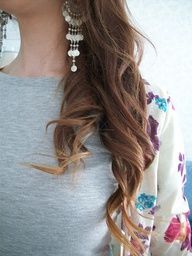 How to lighten just the ends of your hair! ~Love this will have to try!!