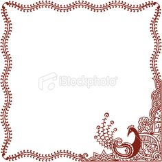 Henna Tattoo, Peacock, Indian Culture, Design, Frame, Feather, Pattern, Bird, Floral Pattern, Vector  {via HiDesignGraphics istockphoto.com}