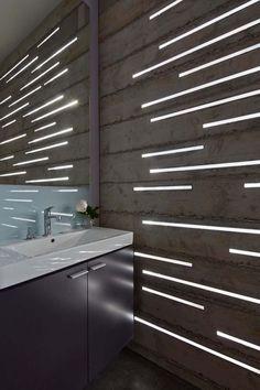 Vilken effekt med att integrera LED-belysning i väggen