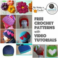 FREE Crochet Patterns by My Hobby is Crochet with VIDEO Tutorials by Bobwilson123: Watch the videos directly in this blog post: http://www.myhobbyiscrochet.com/2015/05/featured-designer-clare-of-bobwilson123.html