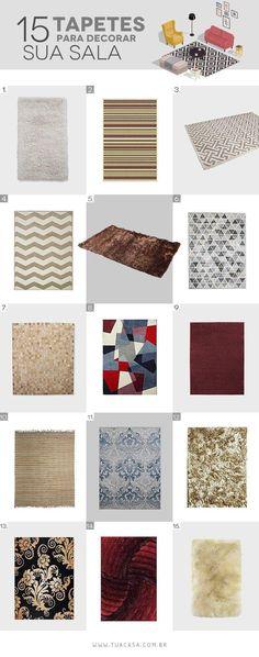 Os tapetes nunca falham em valorizar uma decoração. Por isso, aprenda com dicas de especialistas na área a escolher o tapete ideal para sua sala de estar.