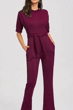 14b5429892f Burgundy Slanted One Shoulder Wide Leg Formal Jumpsuit