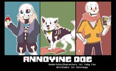 Undertale Fancomic: Annoying Dog - Cover.+ by Kintanga
