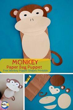 Monkey Paper Bag Puppet by Kidz Activities