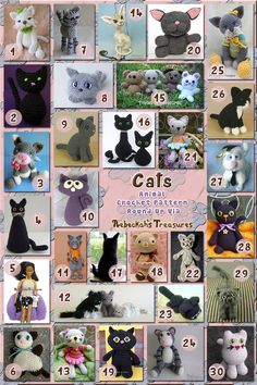 Cats Part 1 - Toys | Animal Crochet Pattern Round Up via @beckastreasures