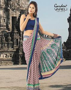 Buy #Stylish Splendor #Multi-Colour #Crepe #Saree at Best Price for Rs.858/-