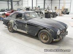 Aston Martin DB2 crashed in France