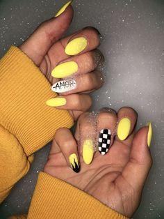 Best Acrylic Glitter Gel Nails for Summer Nail Color Designs . Best Acrylic Glitter Gel Nails for Summer Nail Color Designs . Glitter Gel Nails, Cute Acrylic Nails, My Nails, Cute Nail Art Designs, Colorful Nail Designs, Teen Nail Designs, Summery Nails, Yellow Nail Art, Nagel Blog