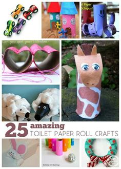 Toilet paper roll kid crafts. Recycling all the way!