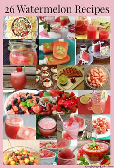 Watermelon is one of our favorite summer treats. Here are 26 mouthwatering watermelon recipes to try out!