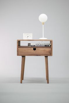 Mid Century Nightstand with Drawer in Walnut by Habitables on Etsy https://www.etsy.com/listing/266135193/mid-century-nightstand-with-drawer-in