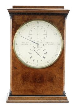 A fine and rare late 19th century burr walnut seconds-beating table chronometer. Exhibited at the International Inventions Exhibition, London 1885 Thomas Mercer, London & St. Albans...
